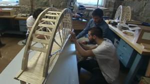 La structure pèse 4180 grammes. Pour le concours on a arrêté la charge à 4472 kilogrammes. Crédit photo: TVA Nouvelles