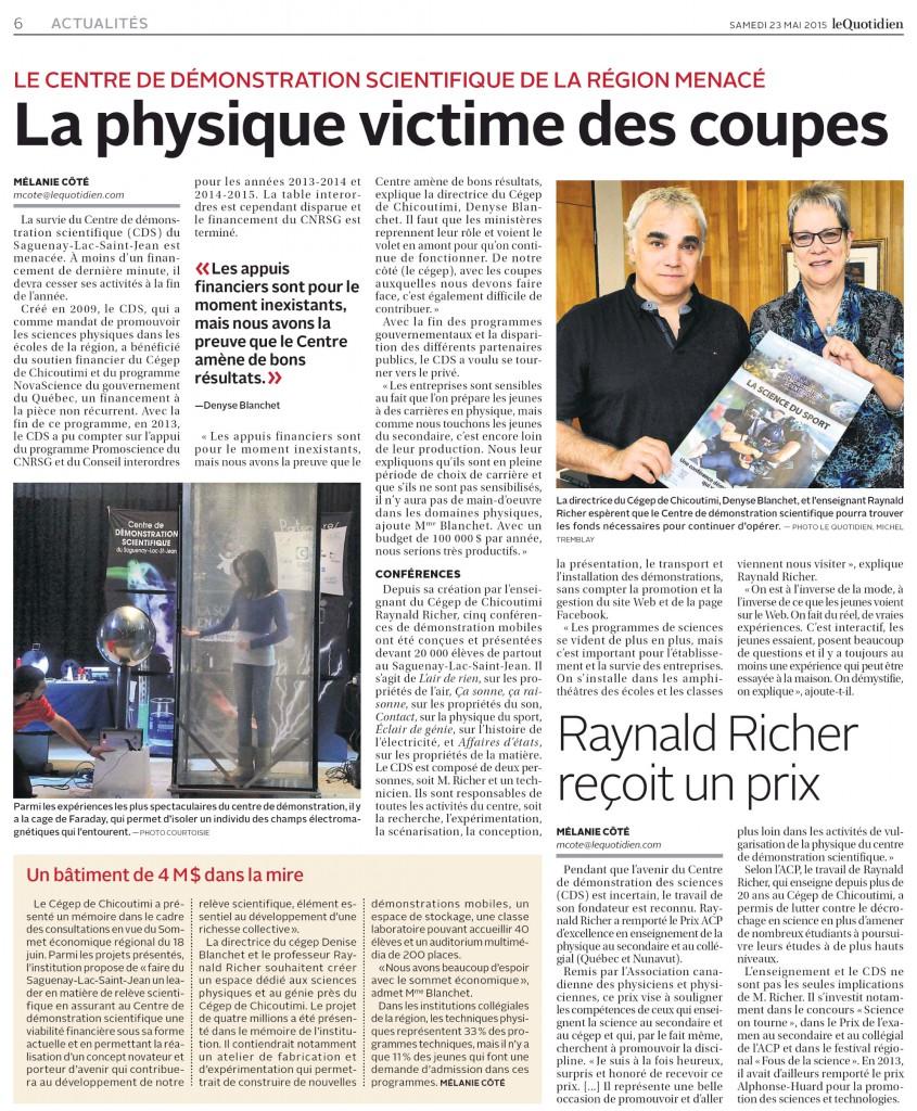 Le Quotidien_23mai2015_CDS