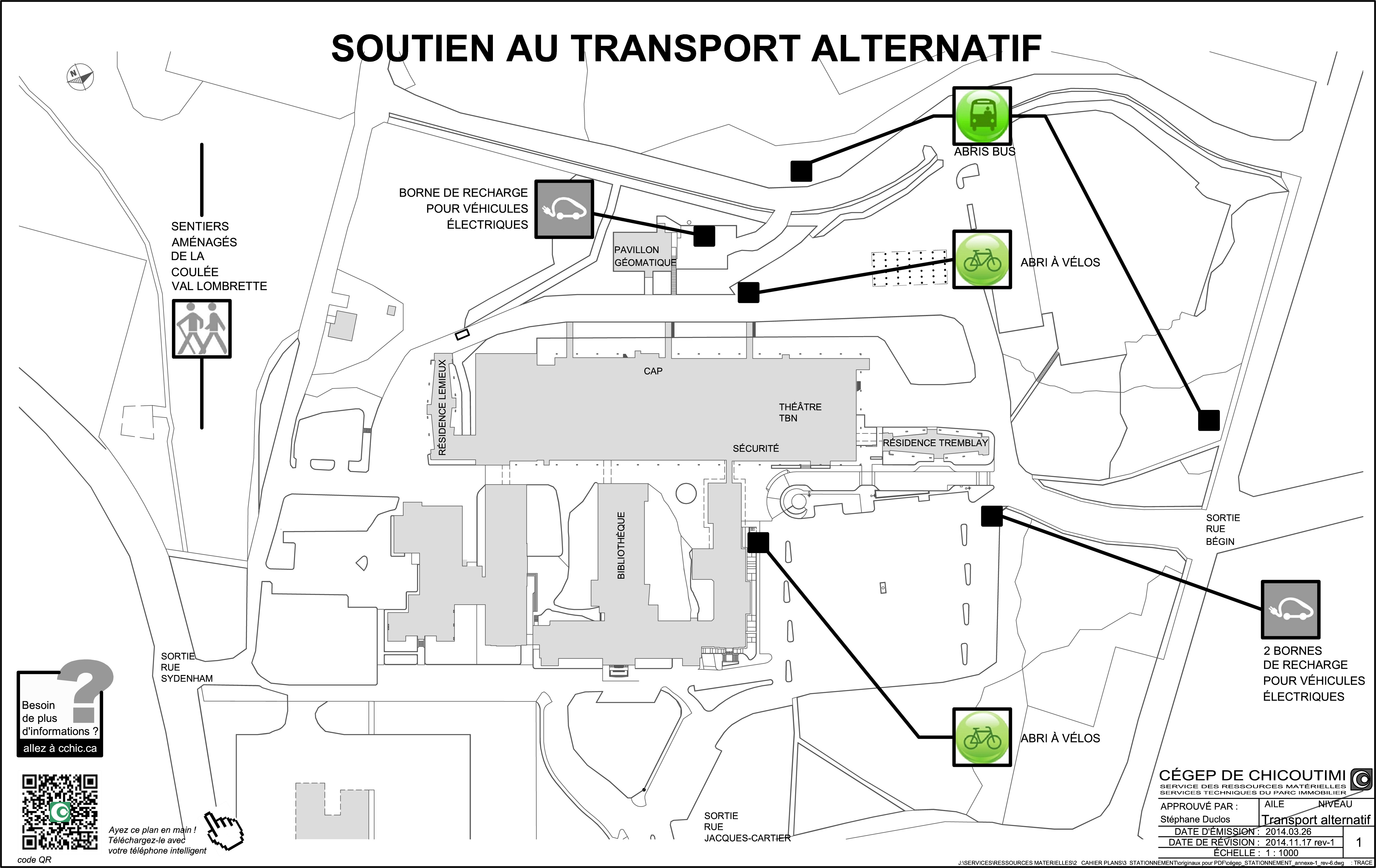 Plan du c gep c gep de chicoutimi for Cegep de chicoutimi piscine