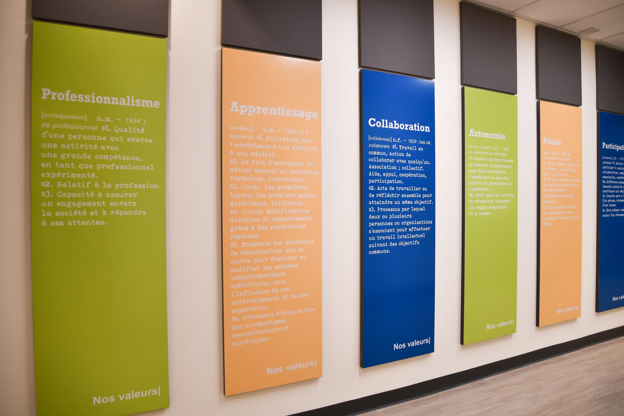 Valeurs du Centre interdisciplinaire de simulations en santé du Cégep de Chicoutimi