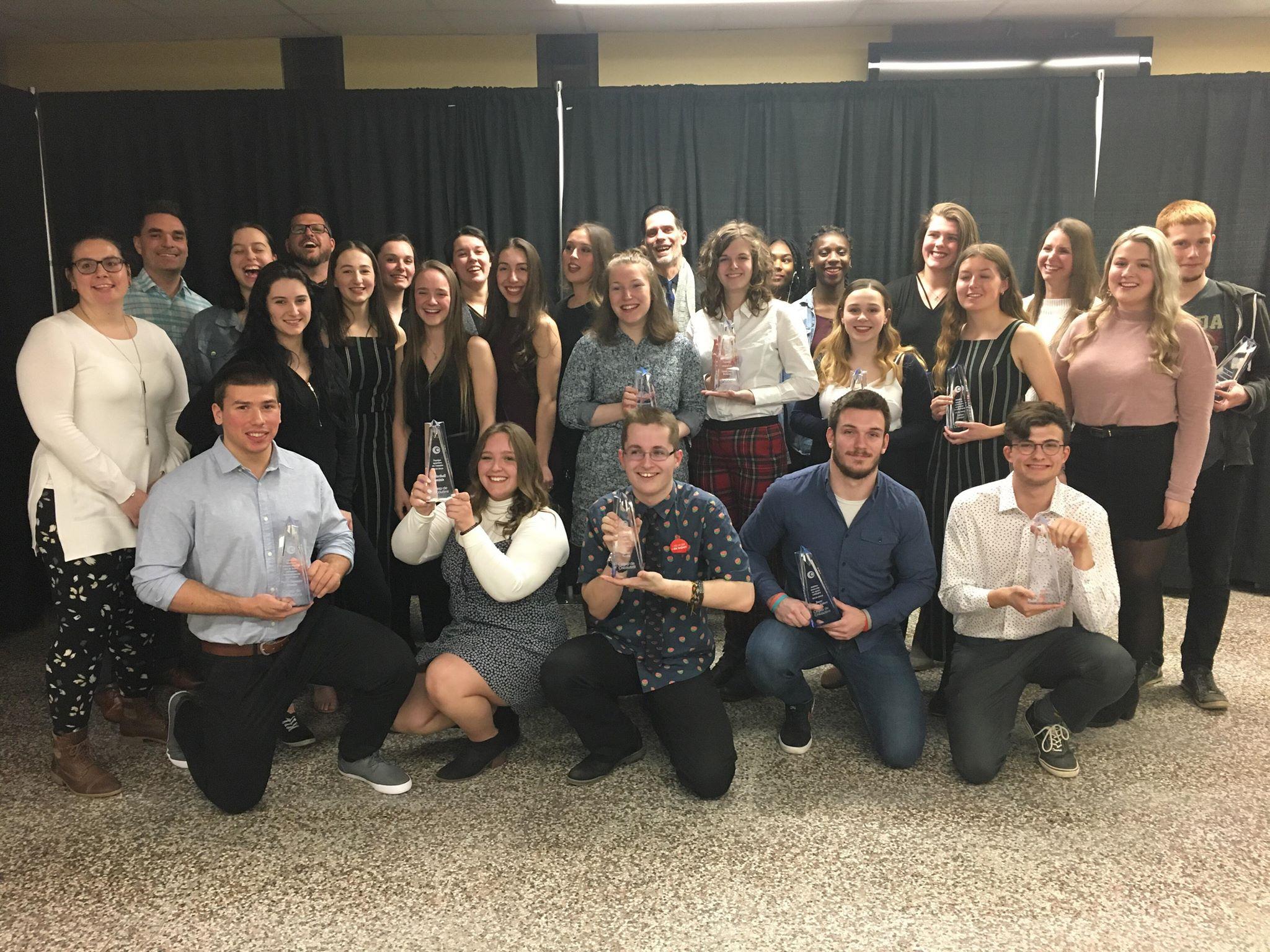 Le Cégep de Chicoutimi a honoré, récemment, les étudiants et organismes de sa vie étudiante qui se sont démarqués durant l'année scolaire 2018-2019.