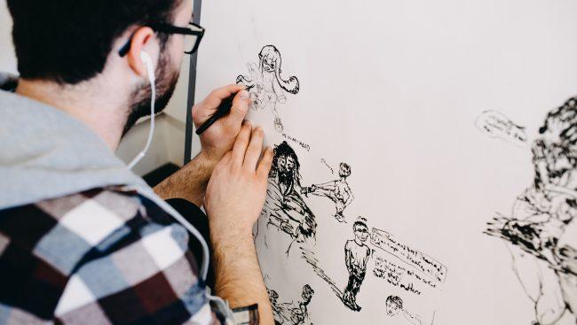 Étudiant en Arts visuels