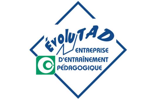 Logo Evolutad, entreprise d'entrainement pédagogique