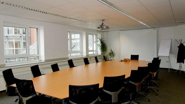 Photo stock d'une salle de conférence